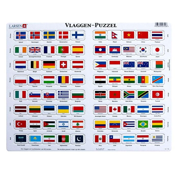 Larsen puzzel vlaggen - Basket thuis van de wereld ...
