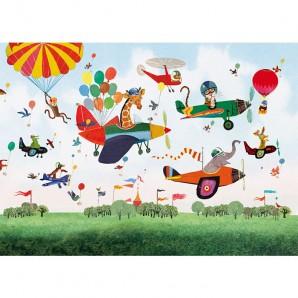 Grootzus - Postkaart Vliegtuig parade