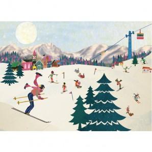 Grootzus - Postkaart Wintersport