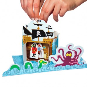 Pukaca - Piraten Theater - DIY papier set
