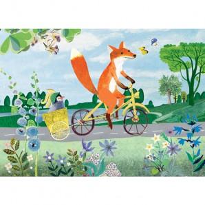 Grootzus - Postkaart Vos op fiets