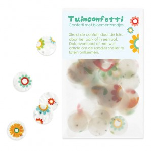 confetti met zaadjes