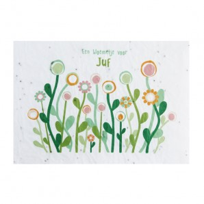 Bloeikaart - Een bloemetje voor JUF