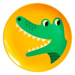Krokodil melamine bordje