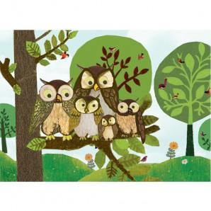 Grootzus - Postkaart Uilen Familie
