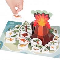 Pukaca - Dino Eiland - DIY papier set