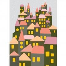 Hikje - Winterkaart Stad roze