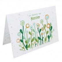 Bloeikaart - Een bloemetje voor MEESTER