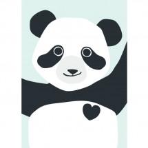 Hikje - A3 Poster Panda